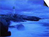 Lighthouse on Rocky Shore Posters by Jim Richardson