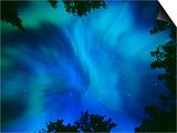 Northern Lights Or Aurora Borealis, Tilton Lake, Sudbury, Ontario, Canada. Posters by Mike Grandmaison