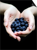 Handful of Blueberries Art by Elisa Lazo De Valdez
