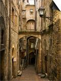 Medieval Street in Perugia Print by David Sutherland