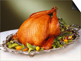 Whole Roast Turkey on Silver Platter Prints by Jon Edwards