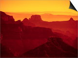 Grand Canyon and Orange Sky Prints by David R. Frazier
