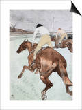 The Jockey Print by Henri de Toulouse-Lautrec