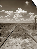 Old Railroad Tracks Print by Aaron Horowitz