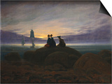 Moonrise over the Sea Posters by Caspar David Friedrich