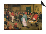 Peasant Wedding Prints by Pieter Bruegel the Elder
