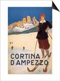 Cortina d'Ampezzo poster Prints