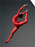 Ballet Dancer in Red Leotard Prints by Erik Isakson