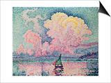 Antibes, the Pink Cloud Print by Paul Signac