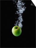Green Apple in Water Posters by John Smith