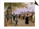 On the Banks of the River Seine Prints by Jean Beraud