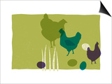 Chickens Poster by Anne Bryant