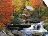 Glade Creek Grist Mill Art by Robert Glusic