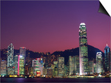 Skyline of Central District in Hong Kong Posters by Steven Vidler