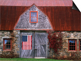 Flag Hanging on Barn Door Posters by  Owaki - Kulla