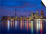 View of Toronto Skyline at Night from 'The Docks', Toronto, Ontario, Canada. Print by Henry Georgi