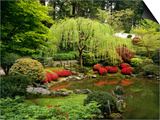 Japanese Garden Pond Poster by Craig Tuttle