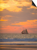 Lugger type pearling sailboat near Broome in Western Australia Posters by Nick Rains