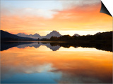 Sunset over the Snake River at Oxbow Bend Prints by Frank Lukasseck
