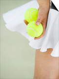Woman Holding Tennis Balls Prints by Duane Osborn
