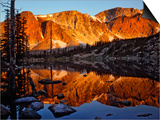 Snowy Range Reflected in Mirror Lake Posters by Steve Terrill