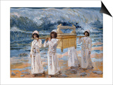 The Ark of the Covenant Passes over the Jordan Print by James Tissot