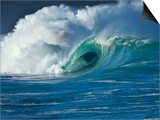 Wave, Waimea, North Shore, Hawaii Prints by Douglas Peebles