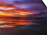 Magnificent sunset with monsoon clouds Posters by Frank Krahmer