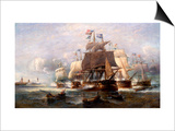 A Naval Engagement Prints by Francois Musin