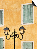 Street Light and Typical Provencal Architecture in Orange Prints by Jonathan Hicks