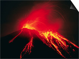Arenal Erupting Art by Kevin Schafer
