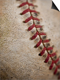 Close-up of worn baseball surface Print by Sung-Il Kim