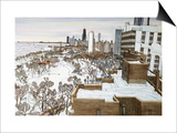 Chicago's Lincoln Park Print by Mark McMahon