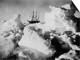 Ernest Shackleton's Ship Endurance Trapped in Ice Prints