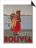 Visit Bolivia 1935 Travel Poster Posters