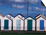 Beach Huts on Devon Town's Waterfront Posters by Kim Sayer