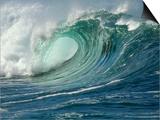 Shorebreak Waves in Waimea Bay Poster by Rick Doyle