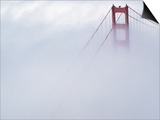 Golden Gate Bridge Tower Surrounded by Fog Posters by Roger Ressmeyer