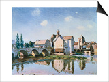 The Moret Bridge in the Sun Art by Alfred Sisley