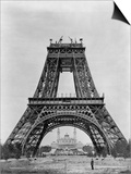 Eiffel Tower Under Construction Prints