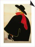 Aristide Bruant in His Cabaret Lámina por Henri de Toulouse-Lautrec