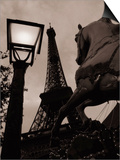 Carousel Horse, Street Light and Eiffel Tower Prints by Jack Hollingsworth