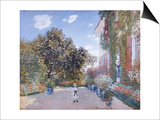 Garden of the Artist at Argenteuil Prints by Claude Monet
