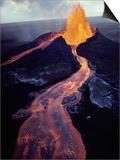 Kilauea Volcano Erupting Posters by Jim Sugar
