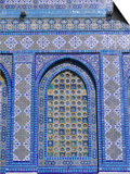 Exterior View of Window and Tilework on Dome of the Rock Posters by Jim Zuckerman