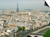 Eiffel Tower and Paris as Seen from Notre Dame Prints by Louie Psihoyos