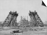 Eiffel Tower During Construction Posters