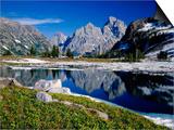 Grand Teton Behind Lake Solitude Art by James Randklev