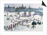 Winterlude, Pirovik - Ottawa-Hull, Canada Prints by Franklin McMahon