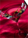Martini with Olive Art by Danilo Calilung